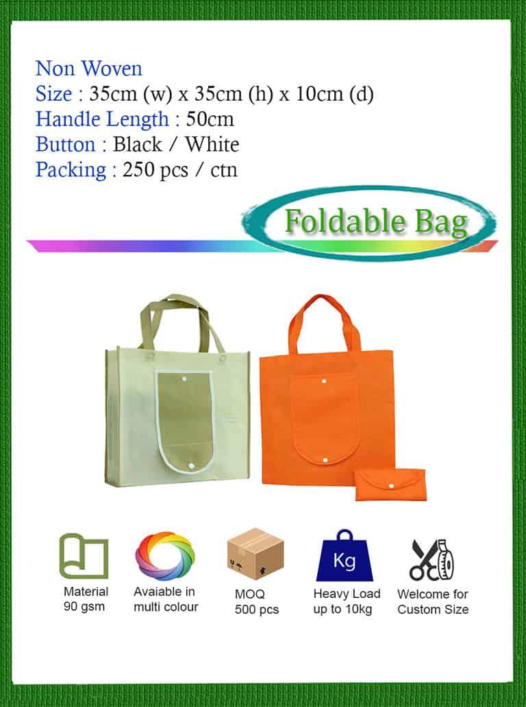 non woven foldable bag