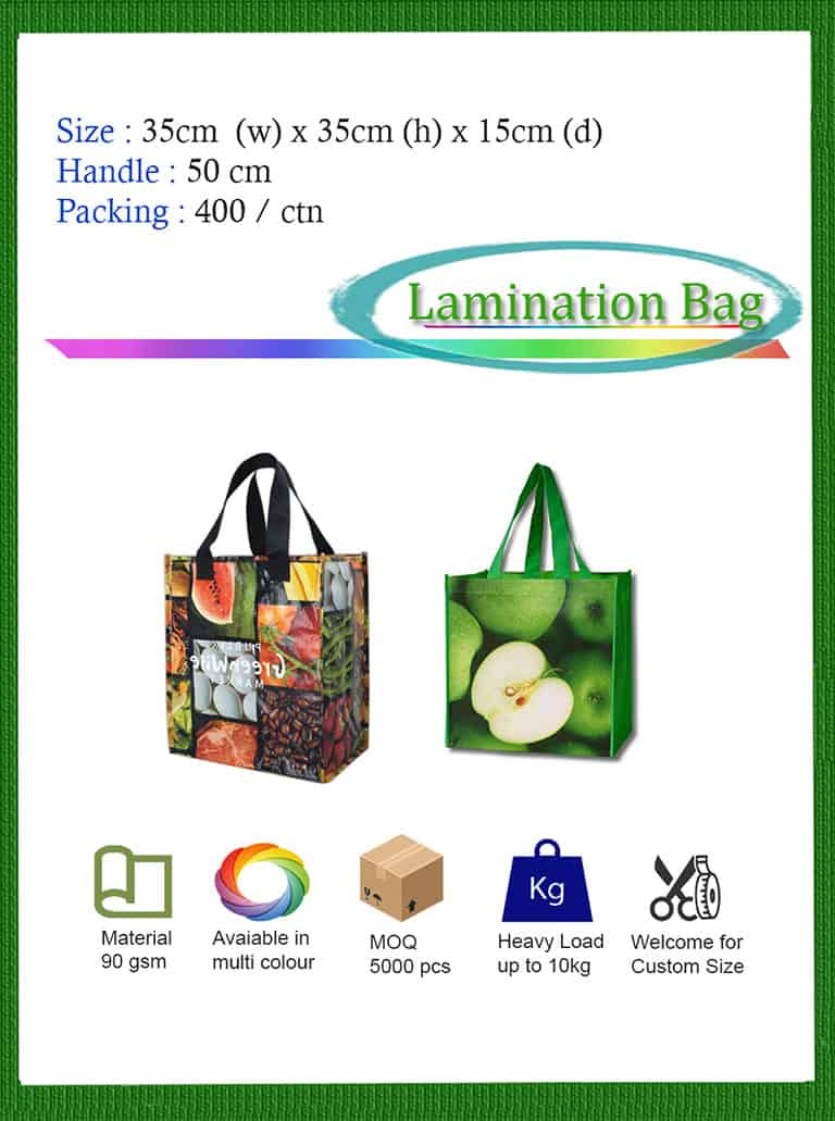 laminated tote bag supply