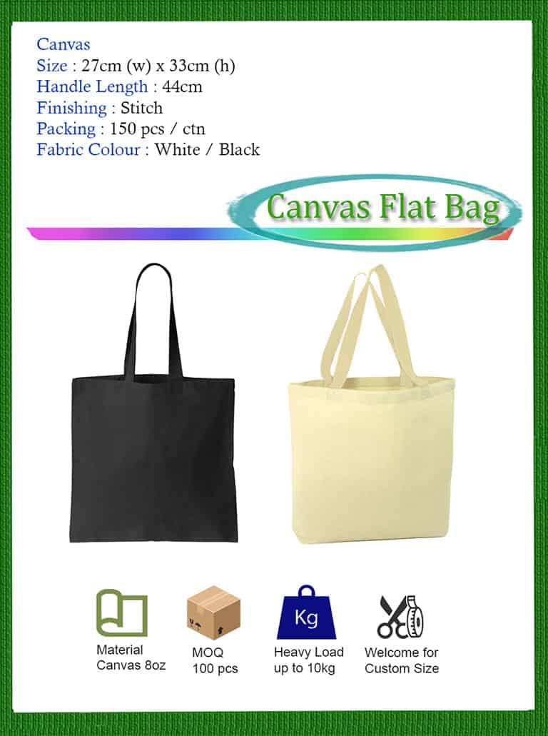 Canvas Flat Bag