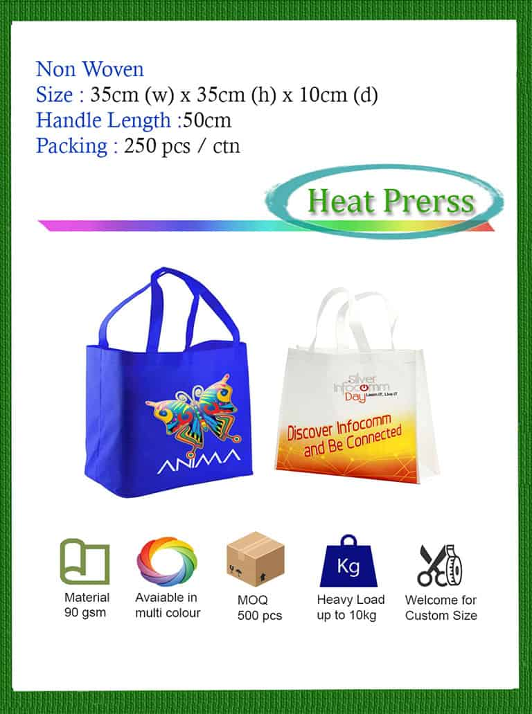 Non Woven Heat Press Bag